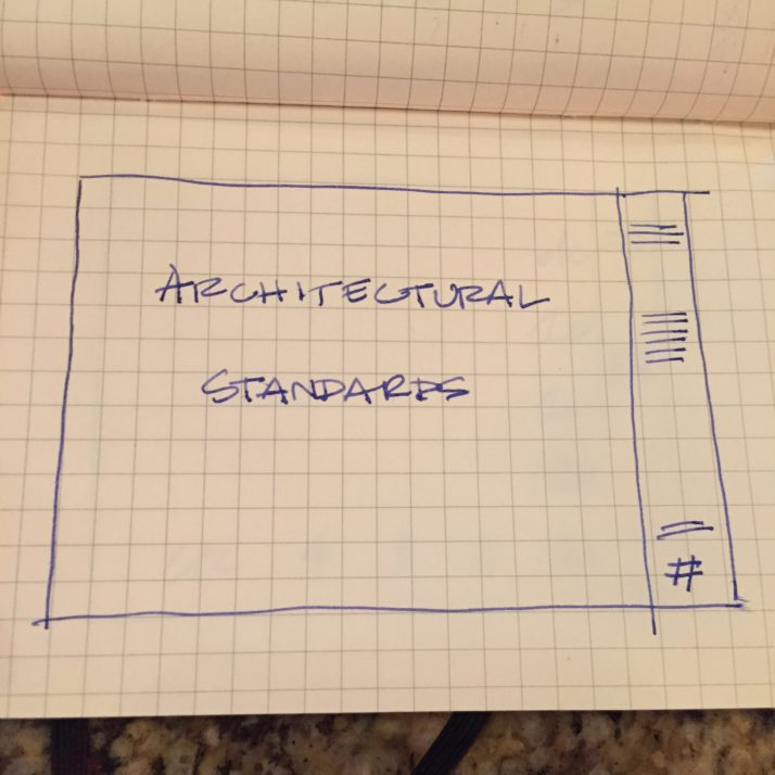 Architectural Standards: What's in a page layout??